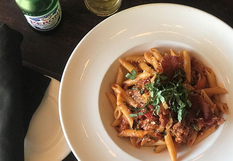 Marotta's hearty Bolognese penne pasta